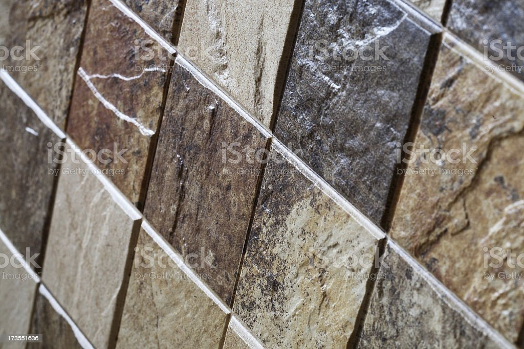Uneven Ceramic Tile royalty-free stock photo