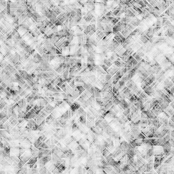 ungleichmäßige chaotisch vielschichtig handbemalt 3d ausgekleidet textur - abstrakte moderne technologie nahtlose hintergrund - kariertes hintergrundsbild stock-fotos und bilder