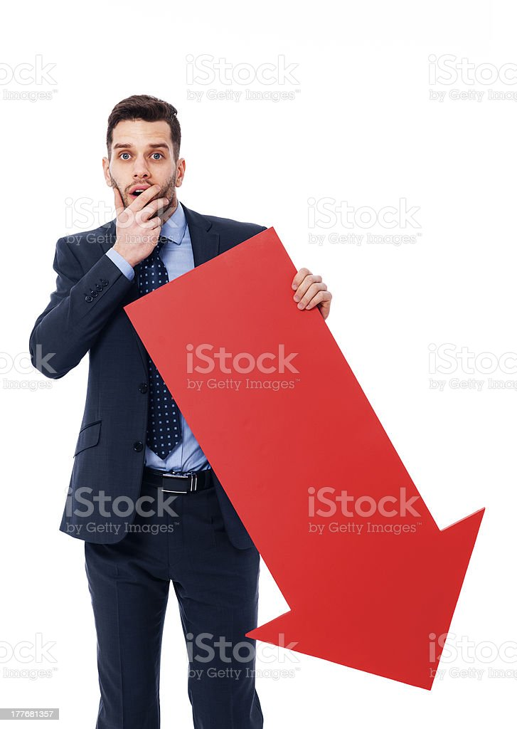 Unexpected drop in business stock photo