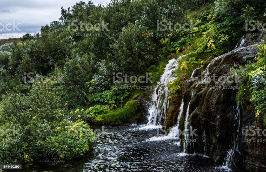 Unexpected waterfalls stock photo