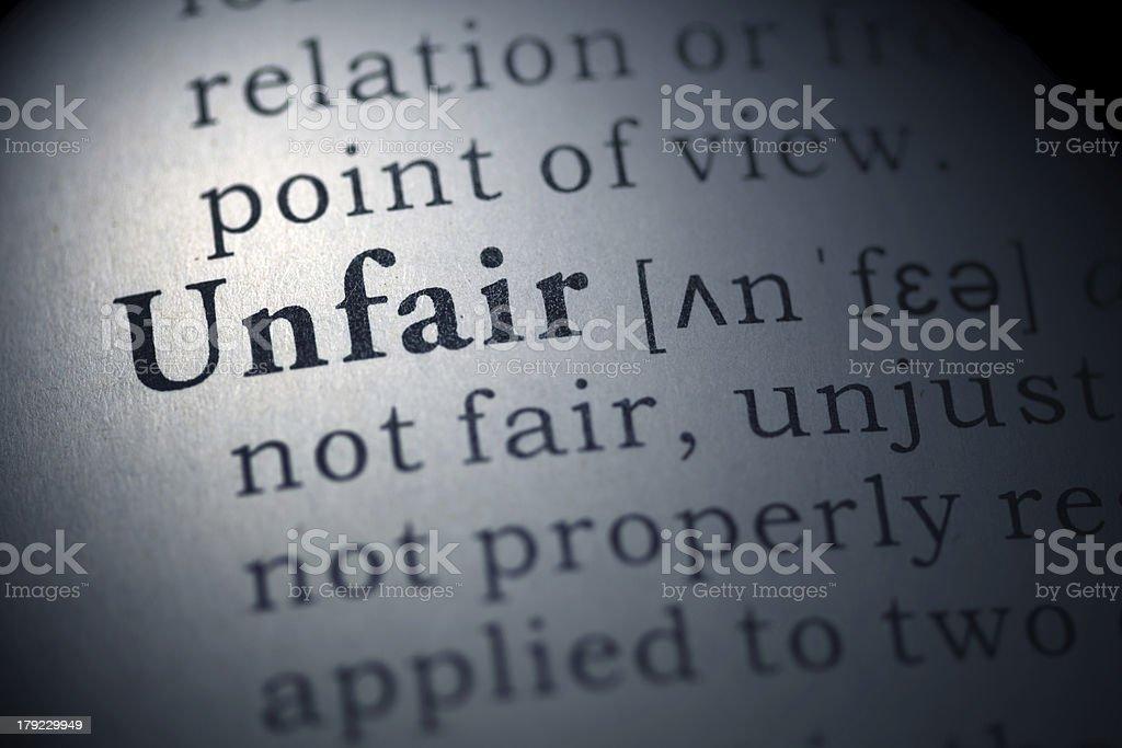 unfair royalty-free stock photo