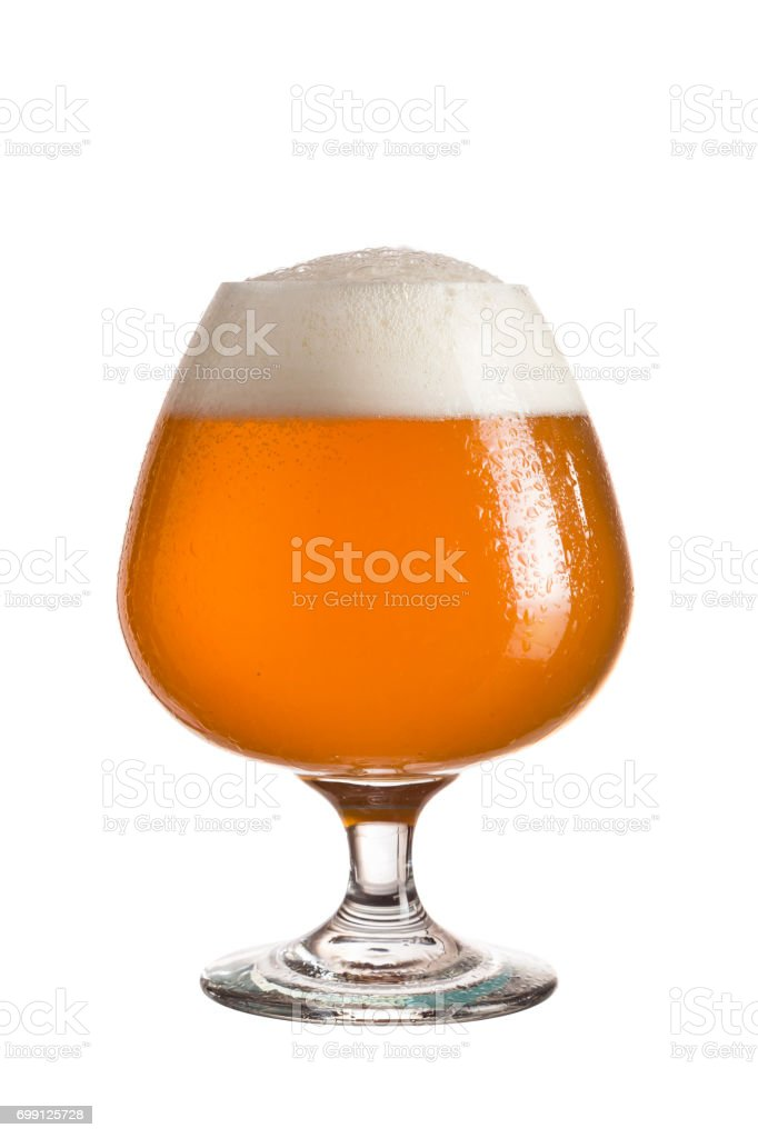 Unfiltered beer stock photo