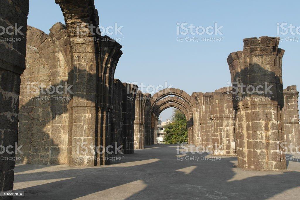 Unfinished ancient mausoleum stock photo