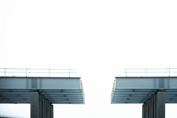 unfinished bridge - incomplete stock pictures, royalty-free photos & images