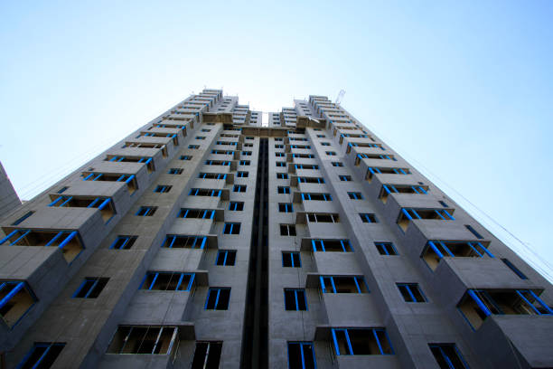 Bauruinen unter dem blauen Himmel, Nahaufnahme Fotos – Foto