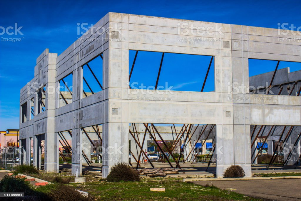 Unfinished Construction Of Office Building stock photo