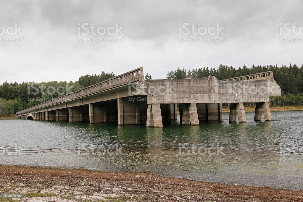 Unfinished highway bridges, Czech republic stock photo