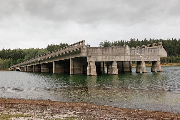 Unfinished highway bridges, Czech republic stock photo