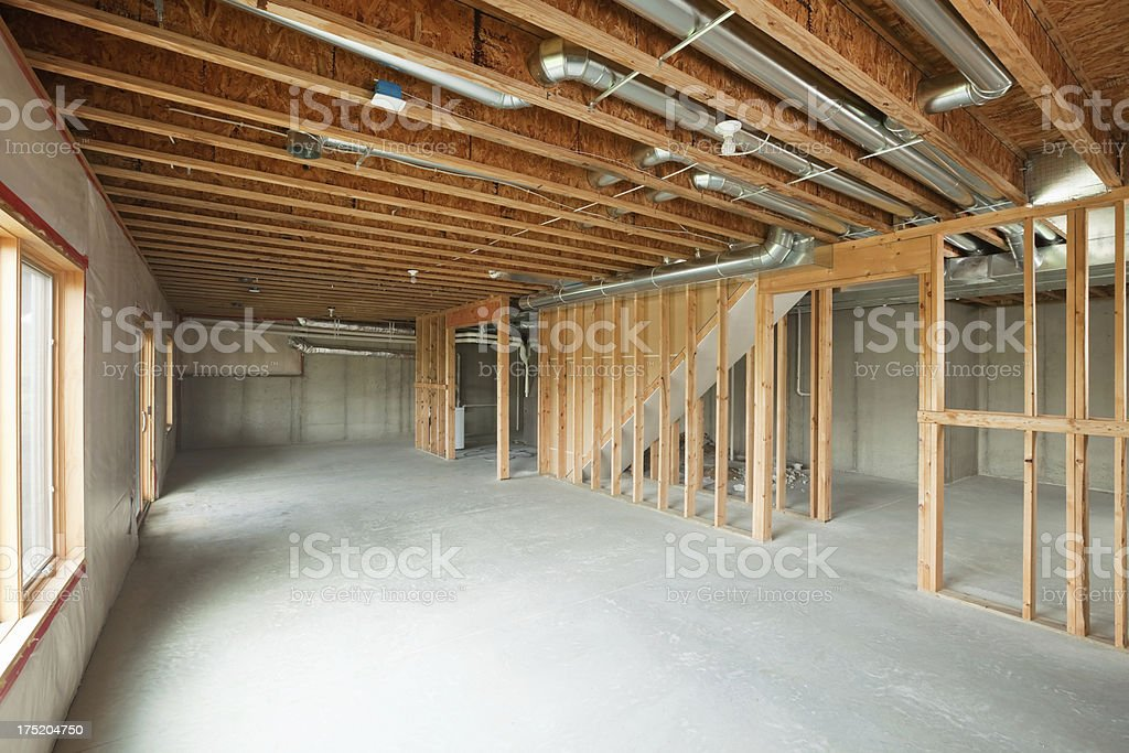 Unfinished House Walkout Basement Stock Photo Download