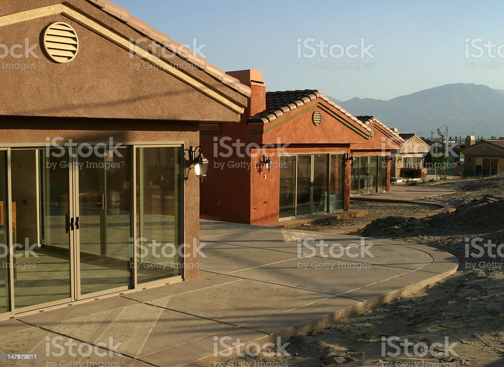 Unfinished Houses royalty-free stock photo