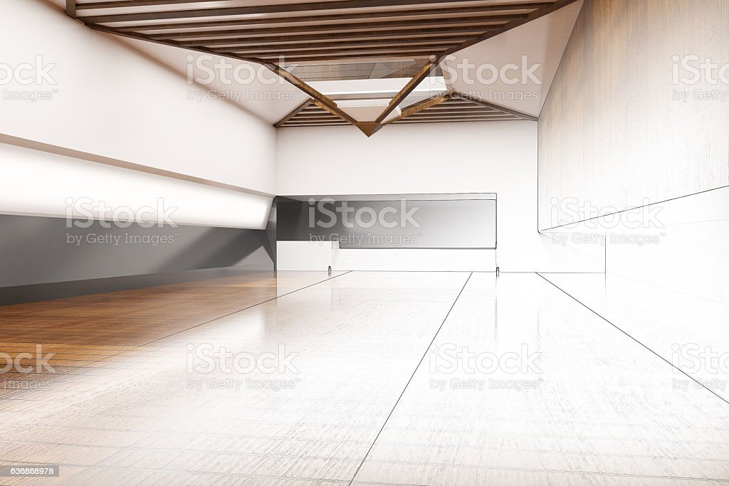 Unfinished interior plan stock photo
