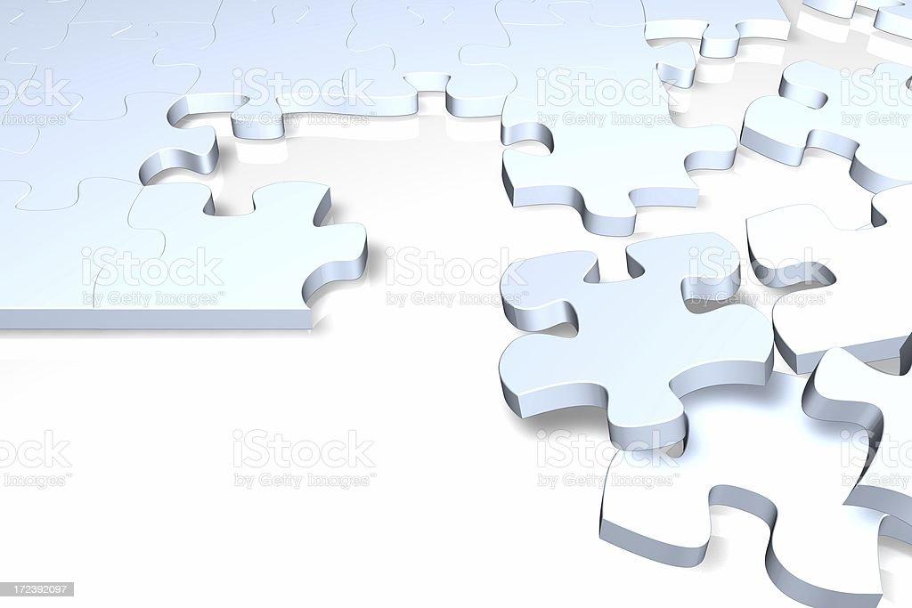 Unfinished jigsaw puzzle royalty-free stock photo