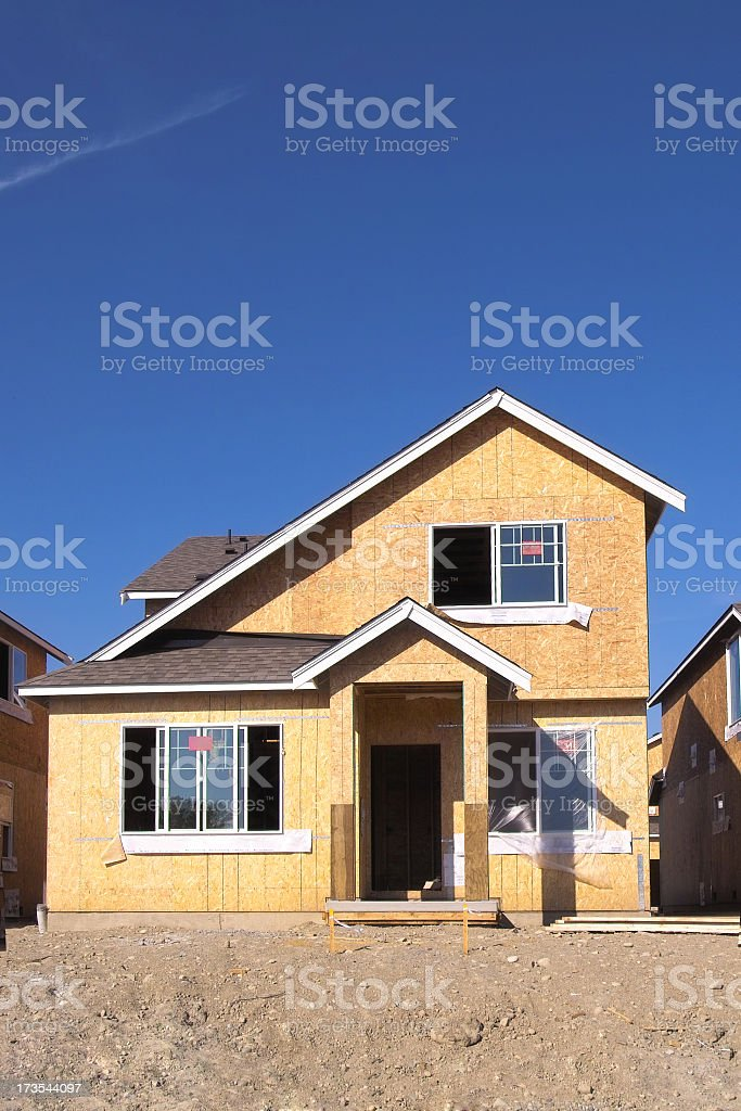 Unfinished Modern Home royalty-free stock photo