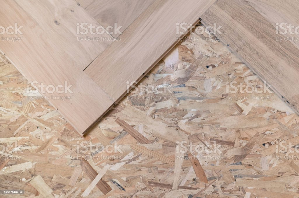 Unfinished Parquet Oak Solid Wood Flooring Stock Photo More