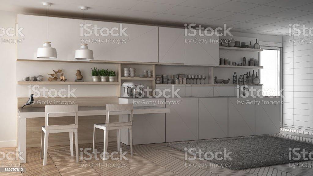Proyecto Inconcluso De Cocina Moderna Minimalista Con ...