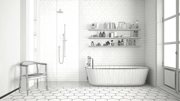 Best Drawing Of A Spa For Bathroom Stock Photos, Pictures ...