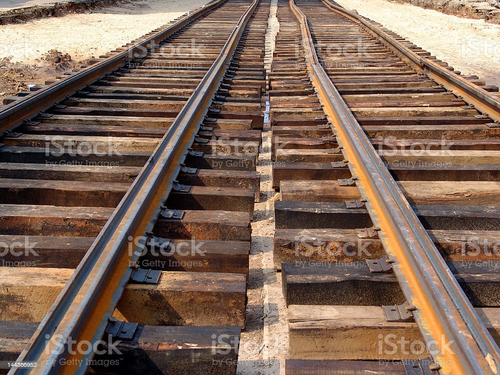 Unfinished  railway perspective royalty-free stock photo
