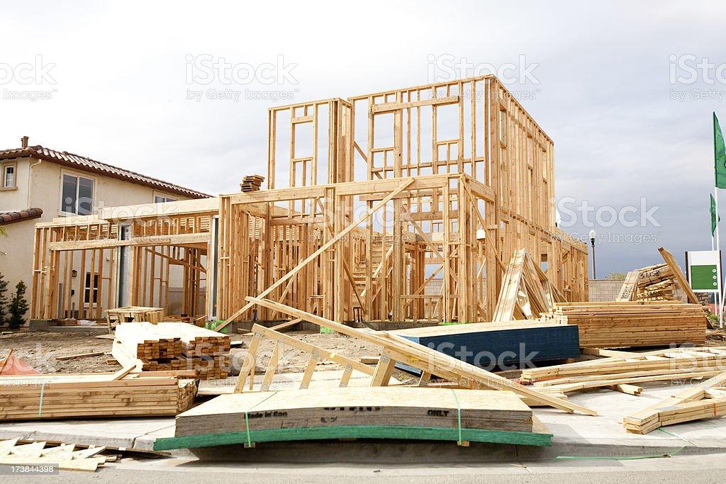 unfinished real estate slump royalty-free stock photo