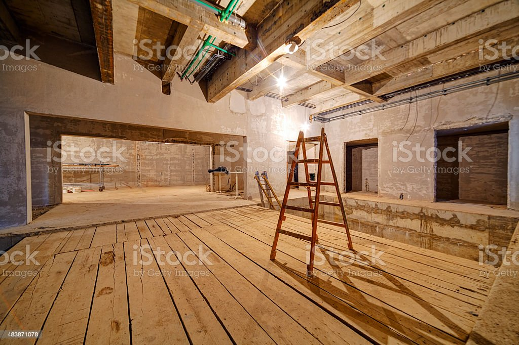 Unfinished residential complex stock photo