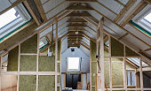 Unfinished residential loft conversion