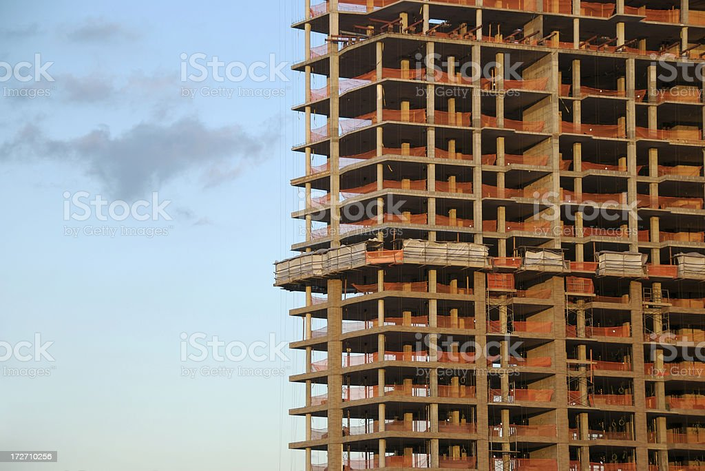 Unfinished Skyscraper Under Construction royalty-free stock photo