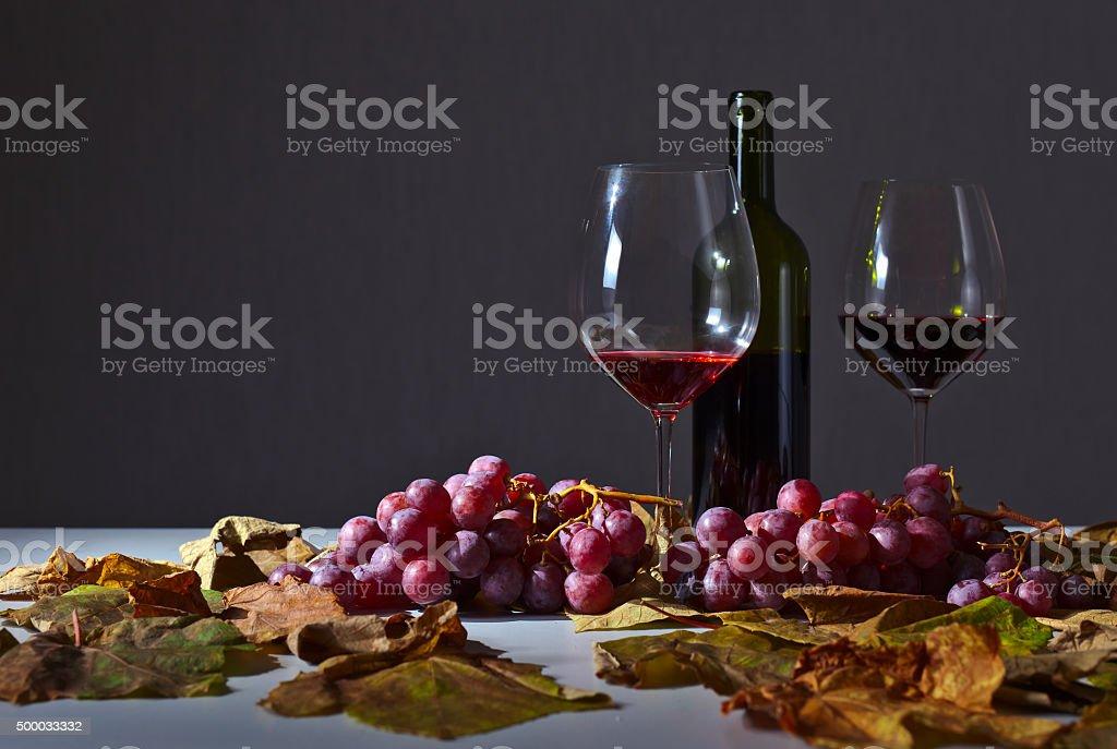unfinished wine stock photo