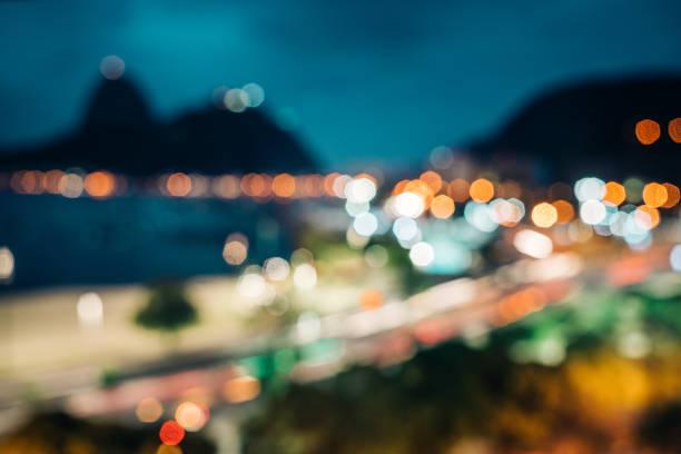 Unkonzentrierte Skyline von Rio de Janeiro, Brasilien – Foto