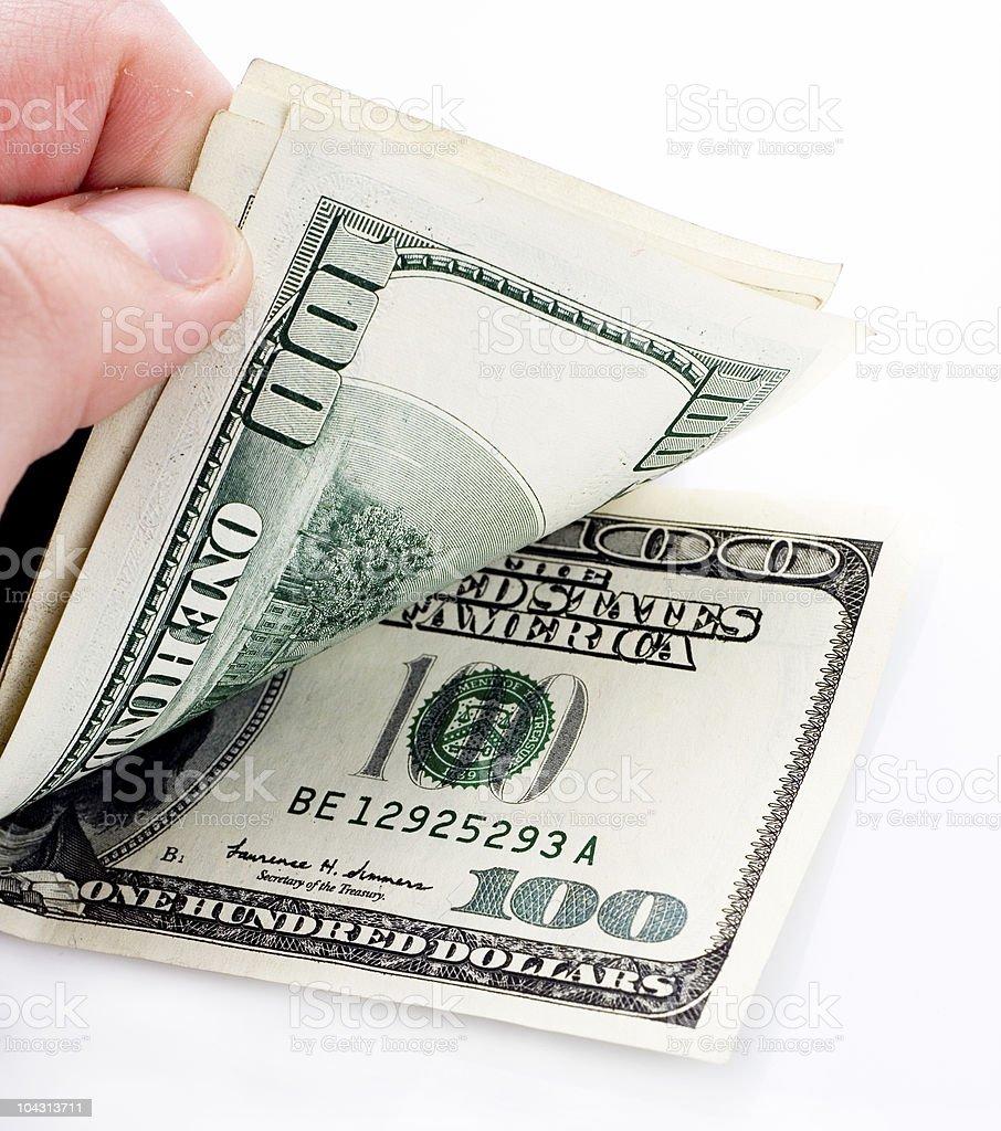 Unfolding money royalty-free stock photo