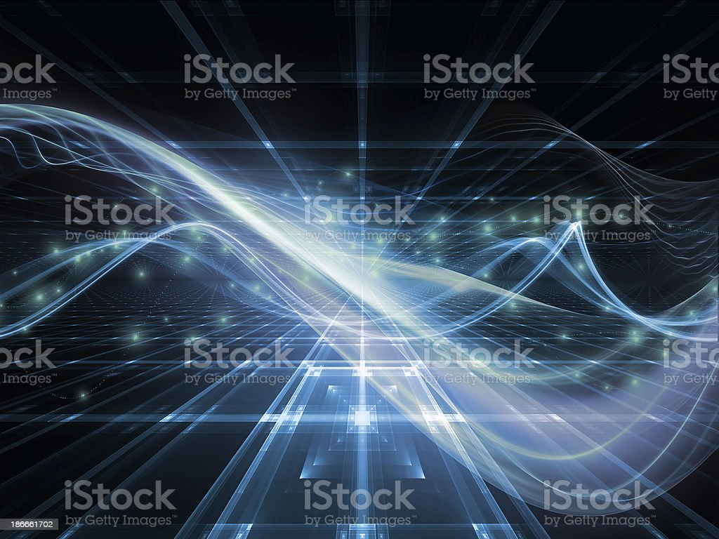 Unfolding of Fractal Realms royalty-free stock photo