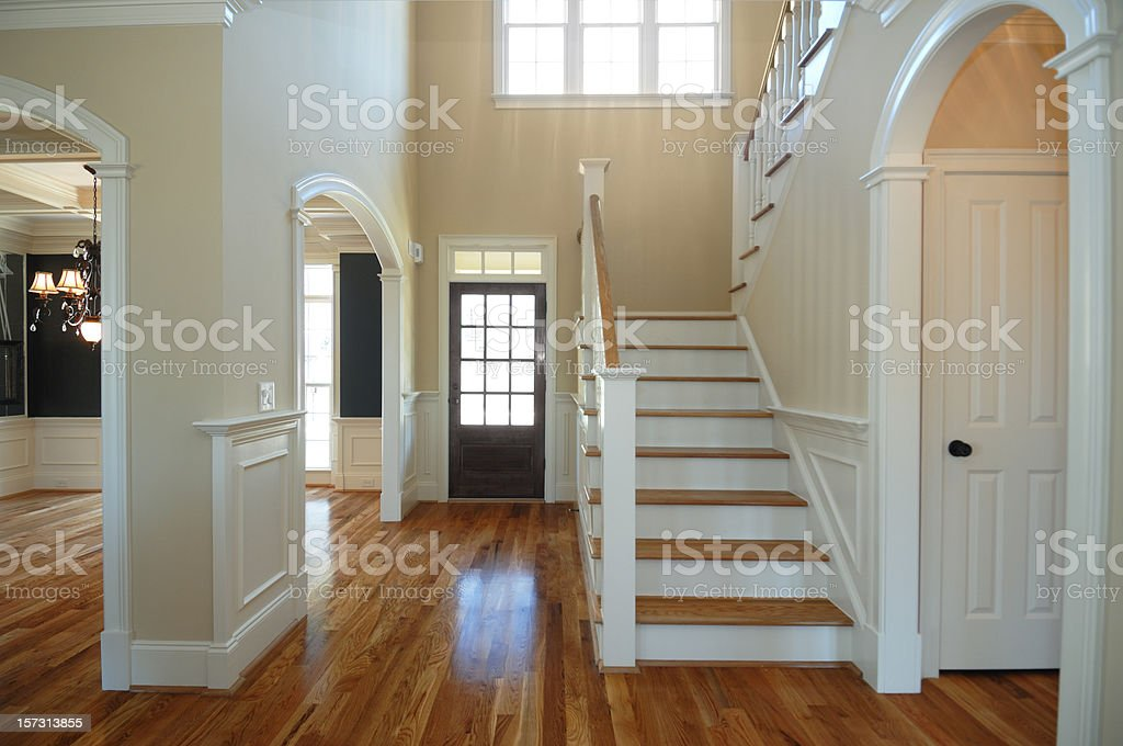 Unfurnished entrance of a new home royalty-free stock photo