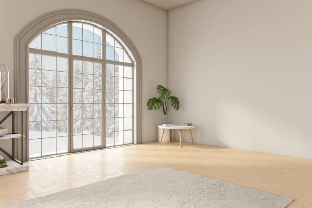Unfurnished Modern Room stock photo