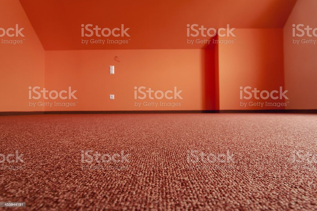 Unfurnished room in a new building. Housing, Southern Germany stock photo