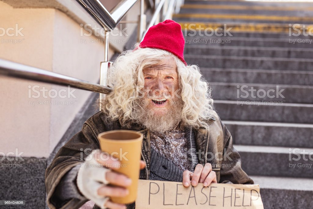 Unhappy aged man looking at you royalty-free stock photo
