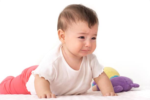 Asian baby newborn crying stock photo. Image of care