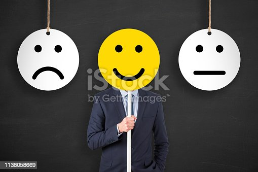istock Unhappy and Happy on Blackboard 1138058669