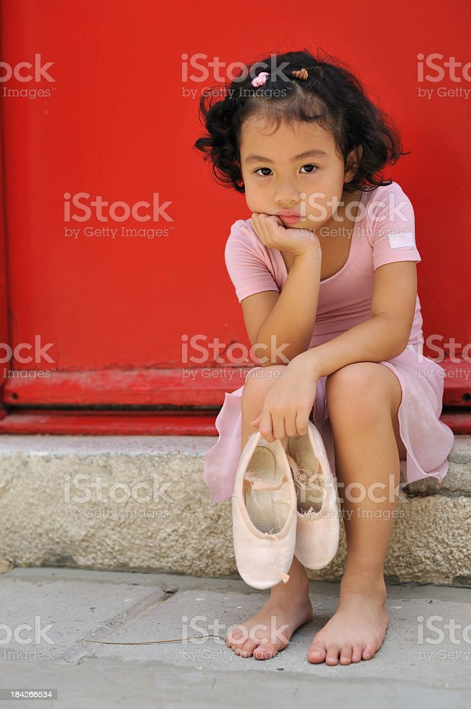unhappy ballerina royalty-free stock photo