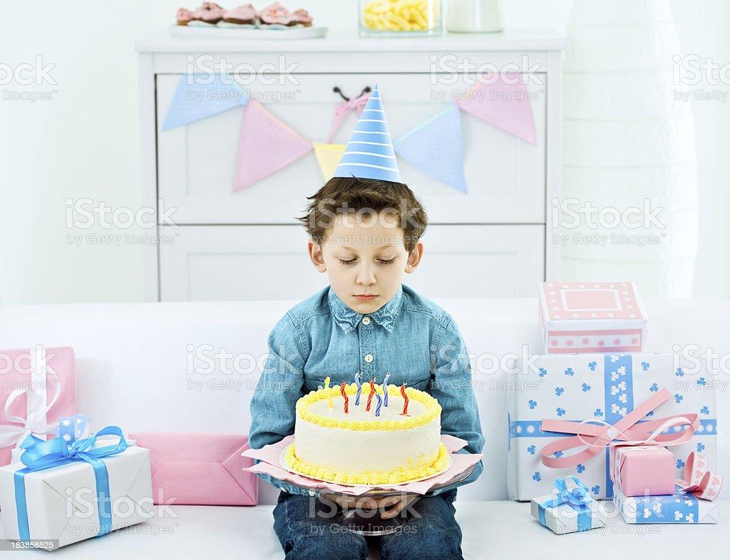 Unhappy birthday stock photo
