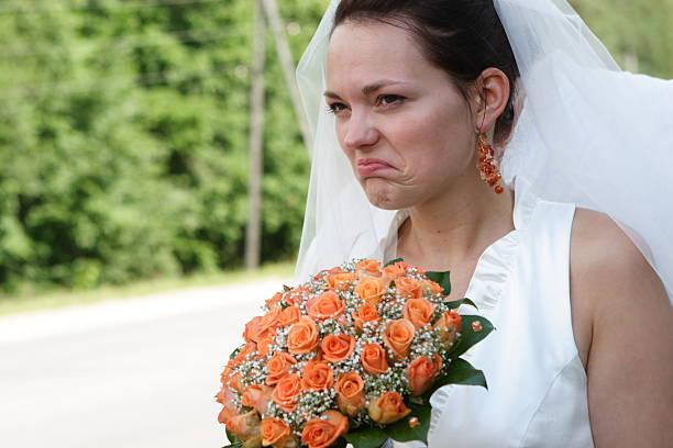 Unglücklich Braut – Foto