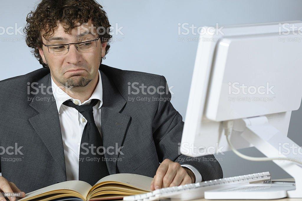 Unhappy businessman royalty-free stock photo