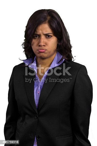 istock Unhappy businesswoman. 495759316