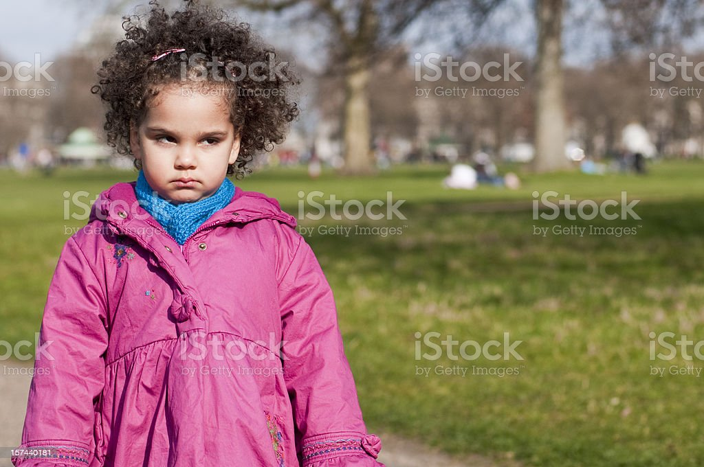 Unhappy Child in the playground royalty-free stock photo