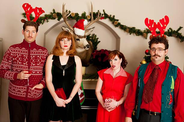 Unhappy Christmas Gathering stock photo