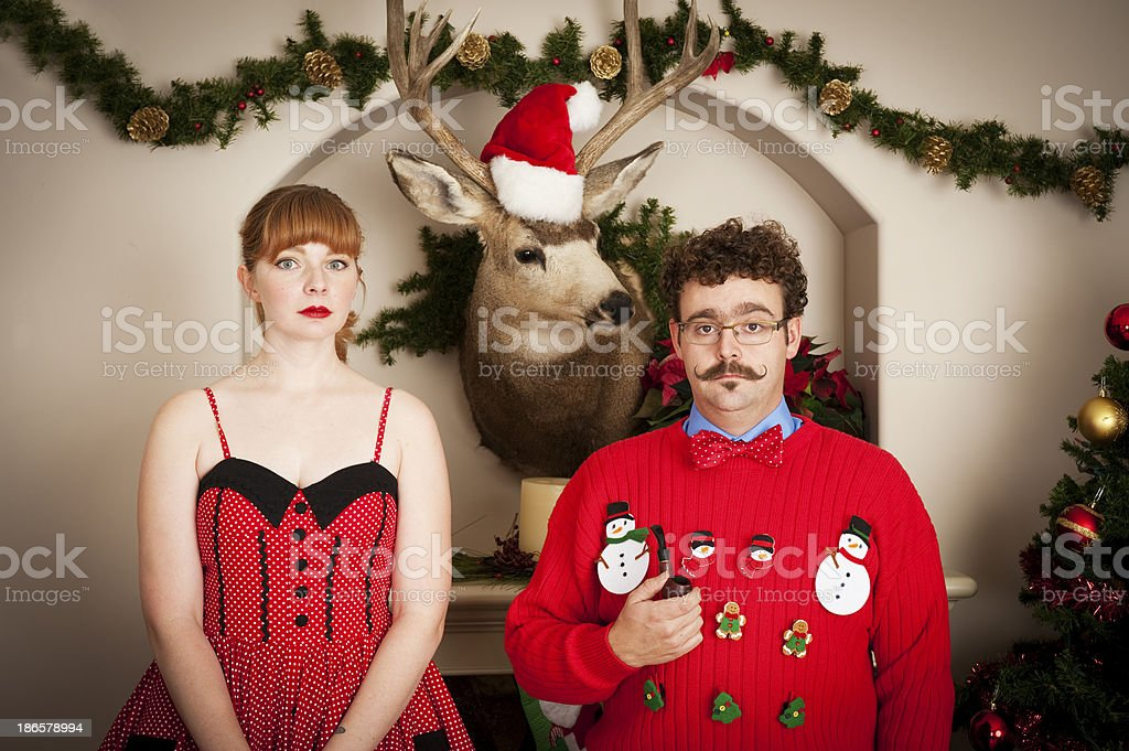 Unhappy Christmas royalty-free stock photo