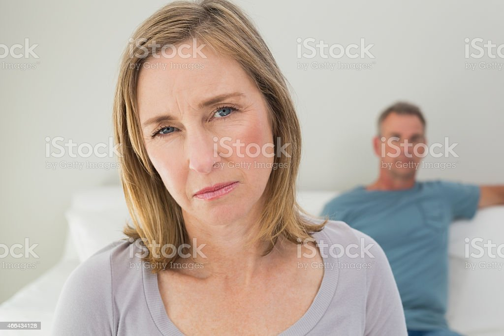 Unhappy couple not talking after an argument - Royalty-free 2015 Stock Photo