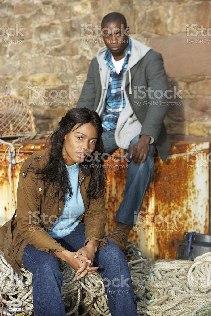 Unhappy couple stock photo
