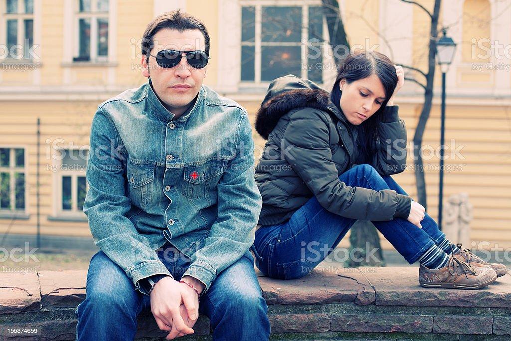 Unhappy couple royalty-free stock photo