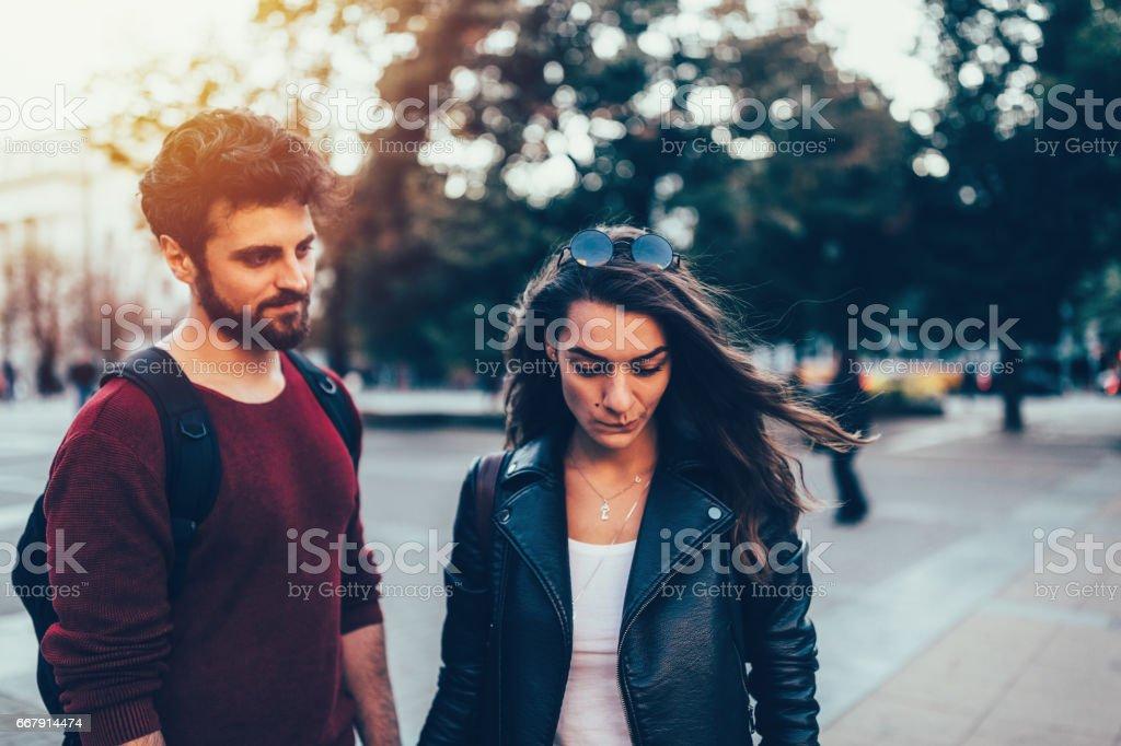 Besorgt Paar – Foto