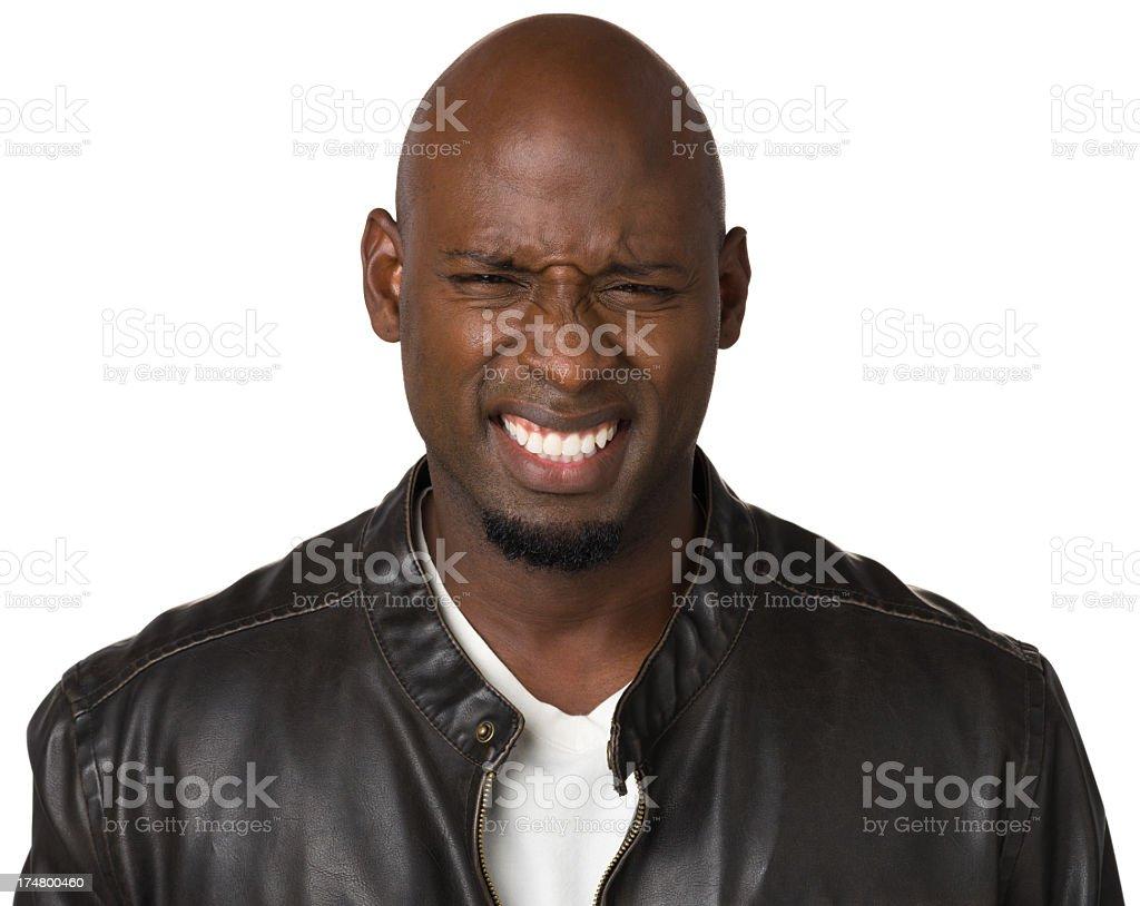 Unhappy Grimacing Man royalty-free stock photo