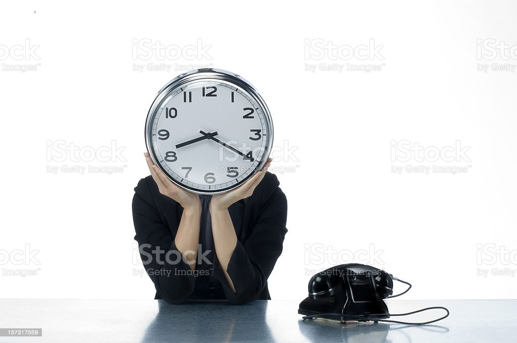 unhappy in the office working late royalty-free stock photo