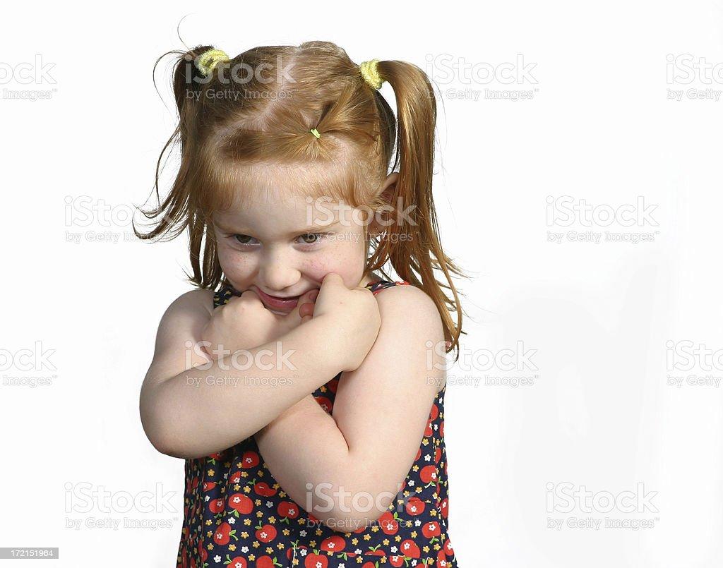 Unhappy little girl. royalty-free stock photo